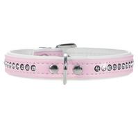 HUNTER Hundehalsband Modern Art Luxus, rosa/weiss