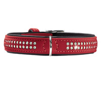 HUNTER Hundehalsband Softie Deluxe, rot/schwarz