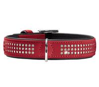 HUNTER Hundehalsband Softie Triluxe, rot/schwarz