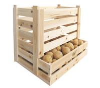 Kartoffel und Obstkiste, 58 x 38 x 42 cm