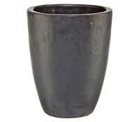 Keramik-Pflanztopf, rund, glasiert