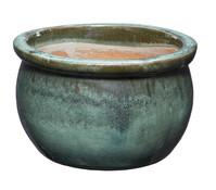 Keramik-Topf Bavaria, glasiert, bauchig