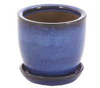 Keramik Topf, glasiert, rund