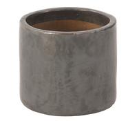 Keramik Topf, rund, anthrazit glasiert