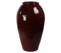 Keramik-Vase Mystic, dunkelrot