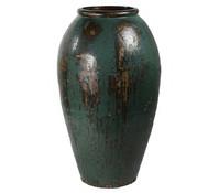 Keramik-Vase Mystic, petrol
