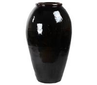 Keramik-Vase Mystic, schwarz