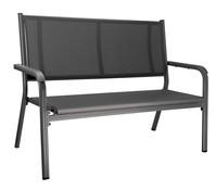 Kettler 2-Sitzer Bank Basic Plus, anthrazit/anthrazit