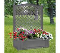 KHW Kunststoff-Pflanzkasten mit Spalier, 100 x 43 x 140 cm
