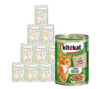 Kitekat® Adult in Gelee, Nassfutter,12 x 400g