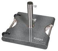 Knirps Granitsockel mit Griff und Rollen, 50 kg