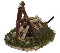 Kolbe Feuerstelle, Flackerlicht mit Baumscheibe, 13 x 10 x 12 cm