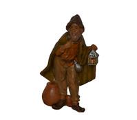 Kolbe Figur Hirte mit Laterne Kunststoff, Legno 10 cm
