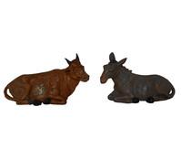 Kolbe Figuren Ochse und Esel Kunststoff, für 12 cm