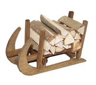 Kolbe Hörner-Schlitten mit Holz, 8 x 4 x 5 cm