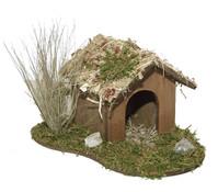Kolbe Hundehütte mit Busch, 13 x 15 x 9 cm