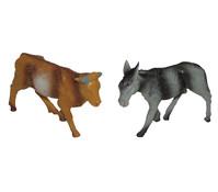 Kolbe Ochse und Esel stehend, für 12 cm Figuren