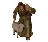 Kolbe Poly-Figur Hirte mit Schaf, 11 cm