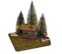 Kolbe Tannenbäume mit Futterraufe, 20 x 20 x 19 cm