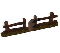 Kolbe Zaun mit Tür, 17 cm