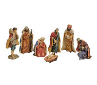 Krippen Figuren- Set aus Polyresin, 7- teilig