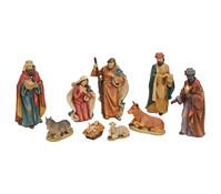 Krippen Figuren- Set aus Polyresin, 9- teilig