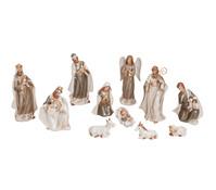 Krippen Figuren- Set aus Porzellan, 11- teilig