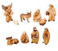 Krippenfiguren, 10-teilig, 12 cm