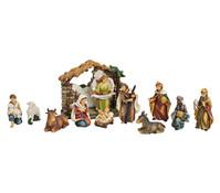 Krippenfiguren-Set aus Polyresin, 12-teilig