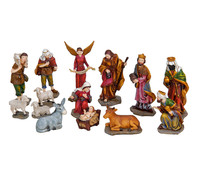 Krippenfiguren-Set aus Polyresin, 14-teilig