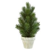 Künstlicher Tannenbaum im Topf, 27 cm
