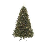Künstlicher Weihnachtsbaum Tanne Bristlecone, beleuchtet, 215 cm