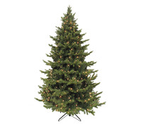 Künstlicher Weihnachtsbaum Tanne Sherwood, beleuchtet, 185 cm