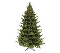 Künstlicher Weihnachtsbaum Tanne Sherwood, beleuchtet, 215 cm
