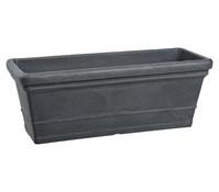 Kunststoff-Blumenkasten Isa, schwarz-granit