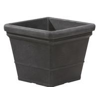 Kunststoff Blumentopf Lisa, schwarz-granit