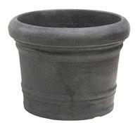 Kunststoff-Pflanztopf Venice, rund, schwarz-granit