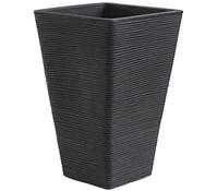 Kunststoff-Pflanzvase Capri, 35 x 35 x 55 cm, anthrazit