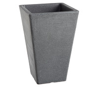 Kunststoff-Pflanzvase Ken, konisch, schwarz