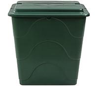 Kunststoff-Regentonne mit Deckel, dunkelgrün