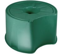 Kunststoff-Sockel für Regentonne 210/310 l, rund, dunkelgrün