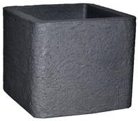 Kunststoff-Topf Kubus, anthrazit