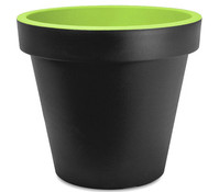 Kunststoff-Topf mit farbigem Rand, Ø 35 cm