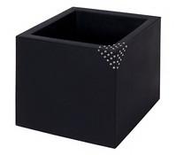Kunststoff-Topf Quadro mit Swarovski-Steinen, Ø 40 cm