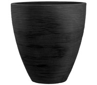 Kunststoff-Vase in Riffeloptik, Ø 40 cm
