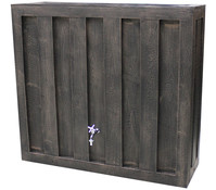 Kunststoff-Wandtank in Holzoptik, 300 l, braun