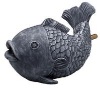 Kunststoff-Wasserspeier Fisch, grau, 24 x 13 x 15,5 cm