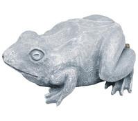 Kunststoff-Wasserspeier Frosch, grau, 25 x 19 x 10 cm