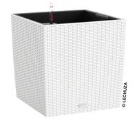 LECHUZA® Blumenkübel Cube Cottage, Ø 40 cm, quadratisch