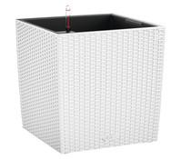 LECHUZA® Blumenkübel Cube Cottage, quadratisch, weiß